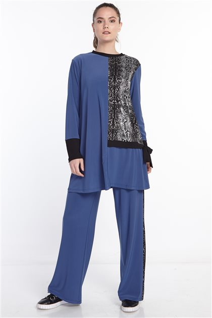 Double Sweat Suits-Blue N-129-70