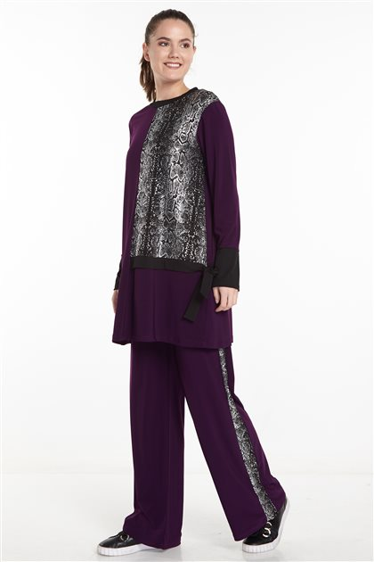 Double Sweat Suits-Plum N-129-51