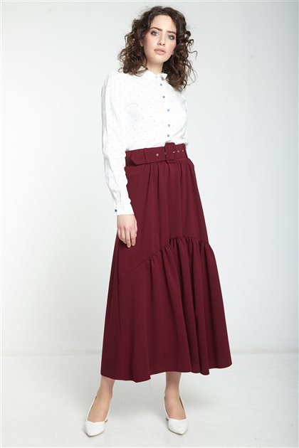 Skirt-Claret Red MS127-26