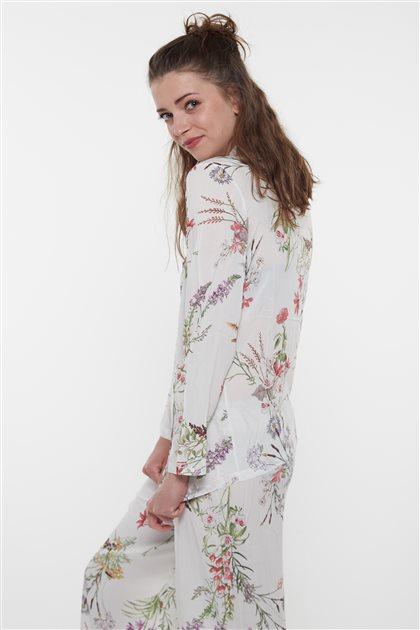 Pajama Set-Ecru 1015-52
