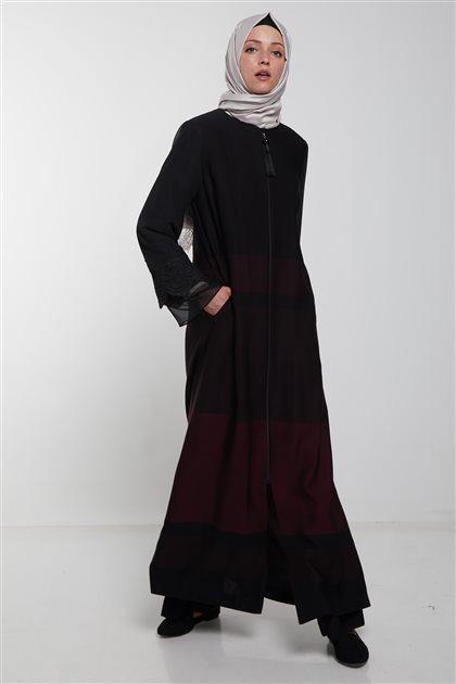 ملابس خارجية-أسود بوردو KA-B9-25051-1226
