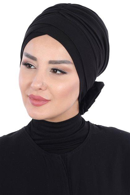 Ayşe Tasarim بونيه -أسود ar-B-0026-6
