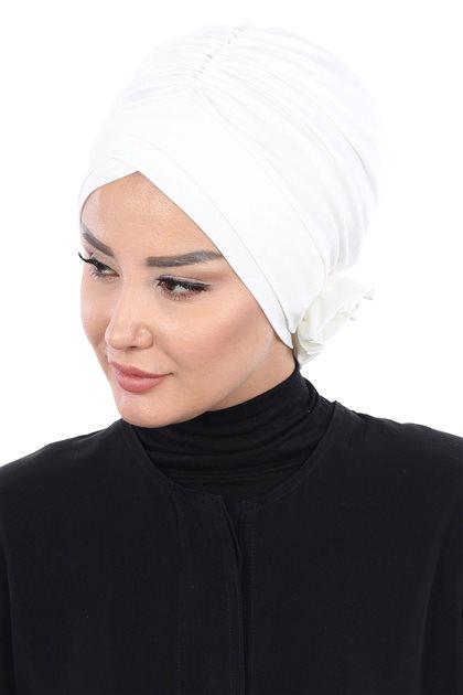 Ayşe Tasarim Penye Bone-Krem B-0026-8