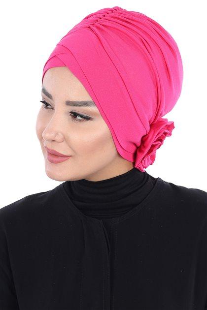 Ayşe Tasarim Bonnets-Fuchsia B-0026-10