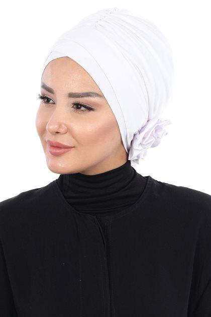 Ayşe Tasarim Bonnets-White B-0026-12