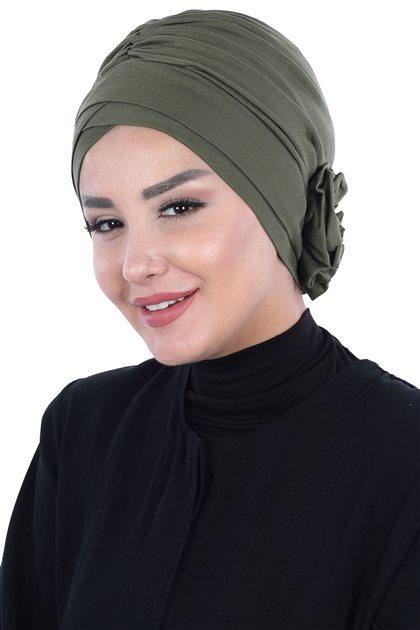 Ayşe Tasarim Penye Bone-Haki B-0026-13
