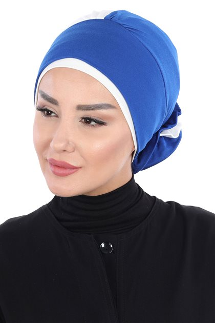 Ayşe Tasarim Bonnets-Sax-Cream B-0028-4-8