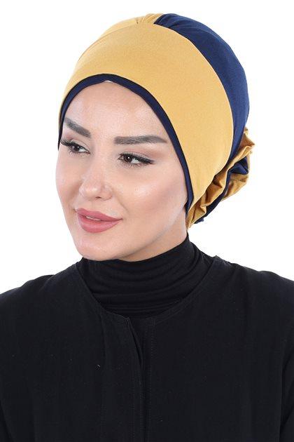 Ayşe Tasarim بونيه -خردل-كحلي ar-B-0028-11-1