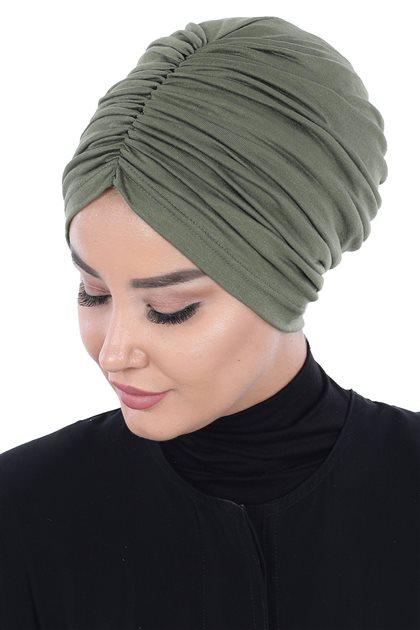 Ayşe Tasarim Bonnets-Khaki B-0029-13