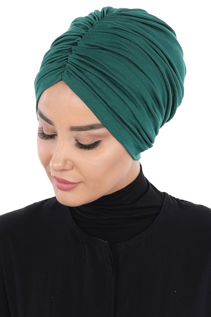 Ayşe Tasarim Bonnets-Dark Green B-0029-14