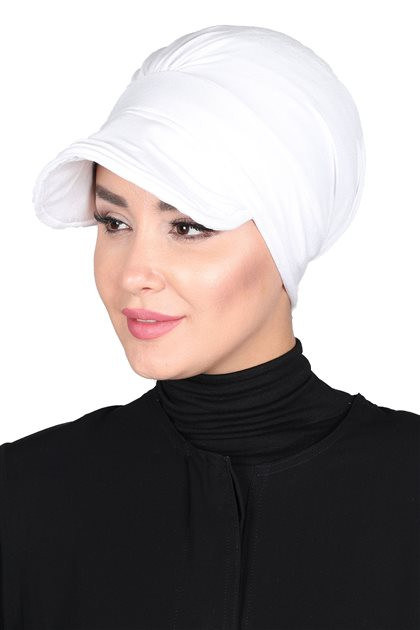 Ayşe Tasarim Bonnets-White B-0030-12