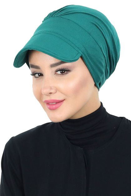 Ayşe Tasarim Bonnets-Dark Green B-0030-14