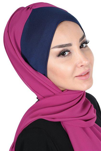 Ayşe Tasarim شال-كحلي-فوشي BS-0002-1-1