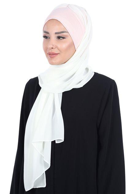 Ayşe Tasarim شال-لون البودرة-كريمي BS-0002-7-22