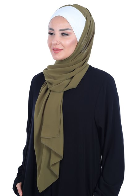Ayşe Tasarim Shawl-Cream-Khaki BS-0002-8-17