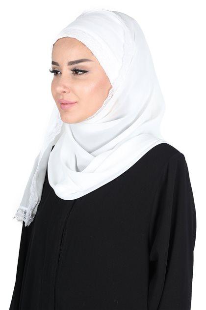Ayşe Tasarim شال- أبيض CPS-0028-24