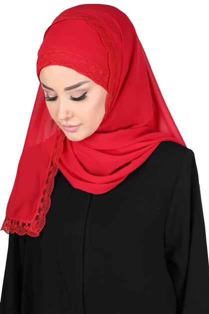 Ayşe Tasarim شال-أحمر CPS-0028-26