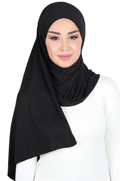 Ayşe Tasarim شال-أسود CPS-0050-6