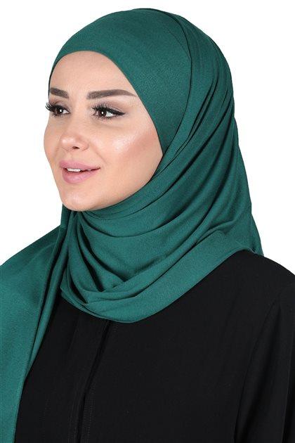 Ayşe Tasarim Shawl-Dark Green CPS-0050-14