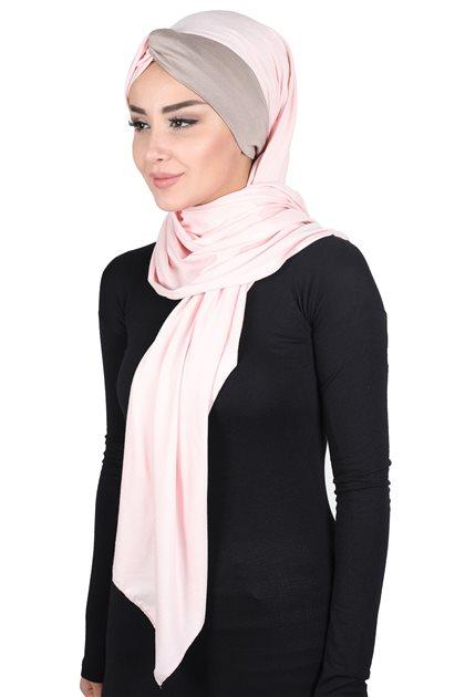 Ayşe Tasarim شال-لون البودرة-بني مينك CPS-0051-7-2