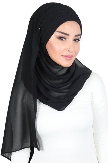 Ayşe Tasarim شال-أسود CPS-501-14