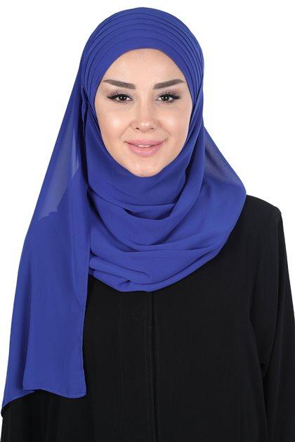 Ayşe Tasarim شال-أزرق غامق CPS-501-16