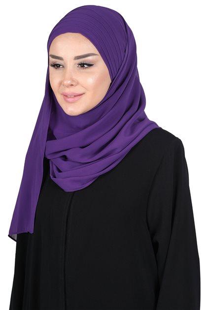 Ayşe Tasarim Shawl-Purple CPS-501-20