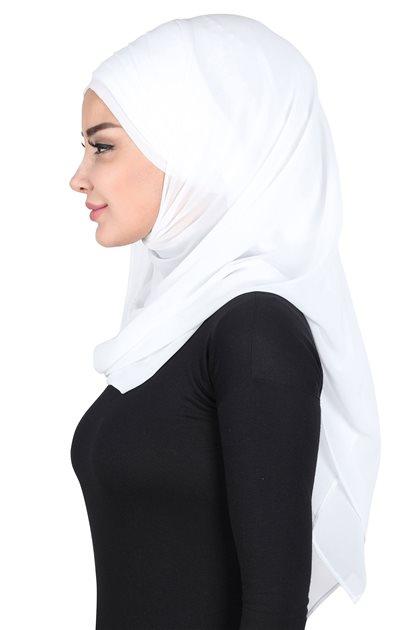 Ayşe Tasarim شال- أبيض CPS-501-24
