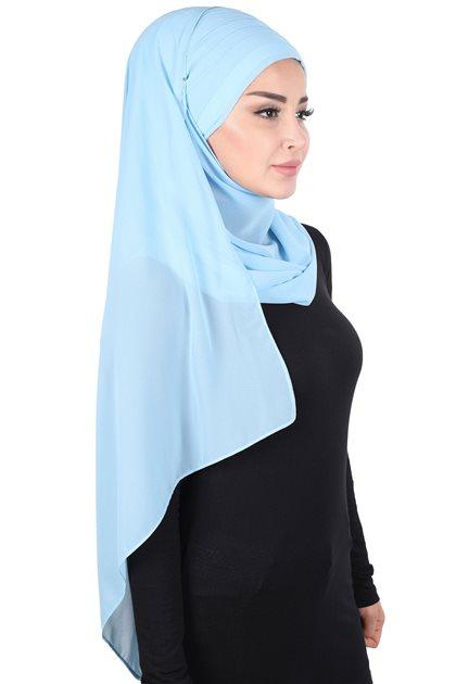 Ayşe Tasarim Shawl-Baby Blue CPS-501-27