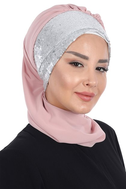 Ayşe Tasarim إيشارب-لون البودرة- HT-0054-11-G