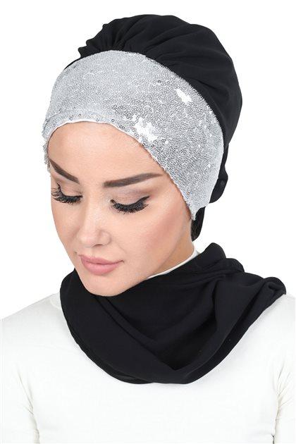 Ayşe Tasarim إيشارب-أسود- HT-0054-14-G