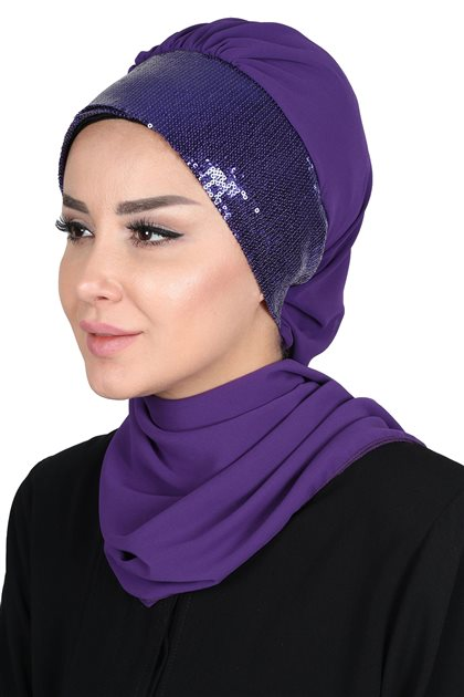 Ayşe Tasarim إيشارب-أرجواني-أرجواني HT-0054-20-M