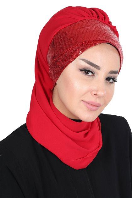 Ayşe Tasarim إيشارب-أحمر-أحمر HT-0054-26-K