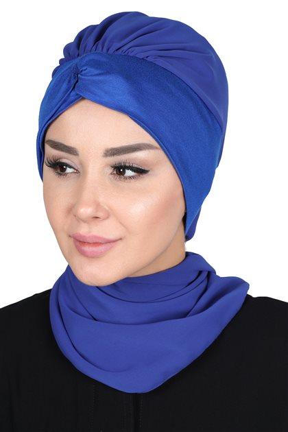 Ayşe Tasarim إيشارب-أزرق غامق-أزرق غامق HT-0055-16-4