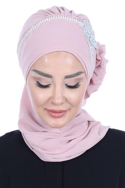 Ayşe Tasarim إيشارب-لون البودرة HT-0062-11