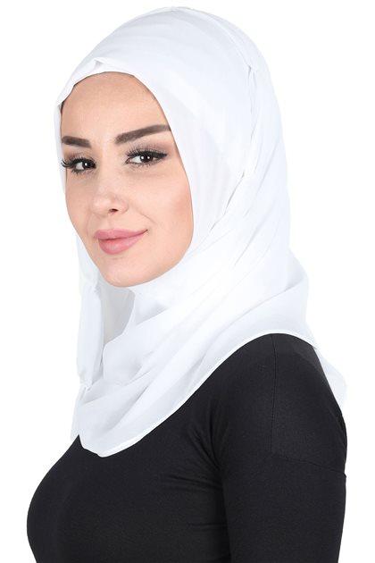 Ayşe Tasarim Shawl-White PS-101-3