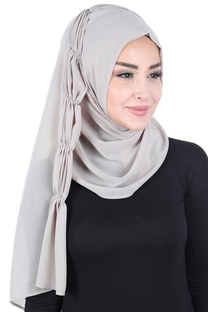 Ayşe Tasarim شال-بني مينك PS-101-4