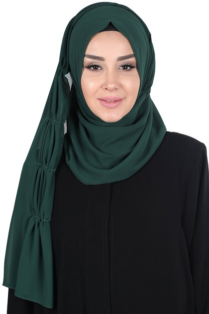 Ayşe Tasarim Shawl-Dark Green PS-101-12