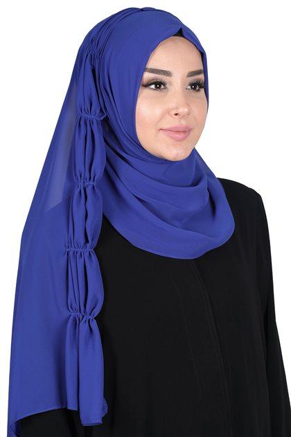 Ayşe Tasarim شال-أزرق غامق PS-101-16
