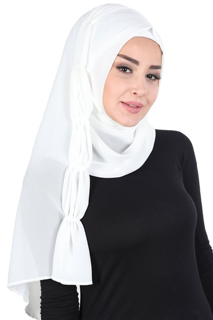Ayşe Tasarim شال- أبيض PS-101-24
