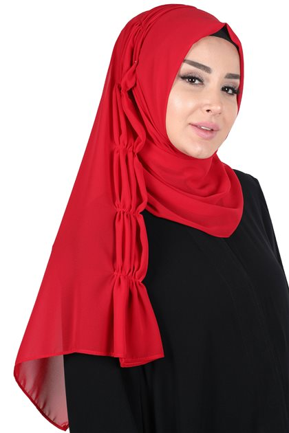Ayşe Tasarim Shawl-Red PS-101-26
