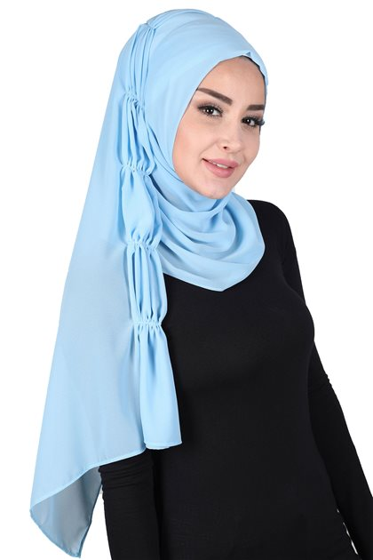 Ayşe Tasarim Shawl-Baby Blue PS-101-27