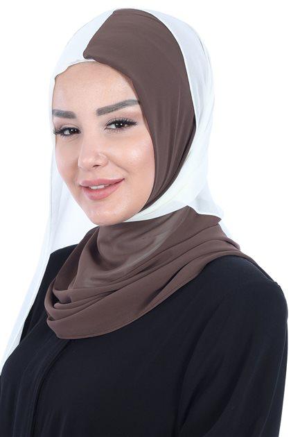 Ayşe Tasarim شال-بني-كريمي PS-102-6-22
