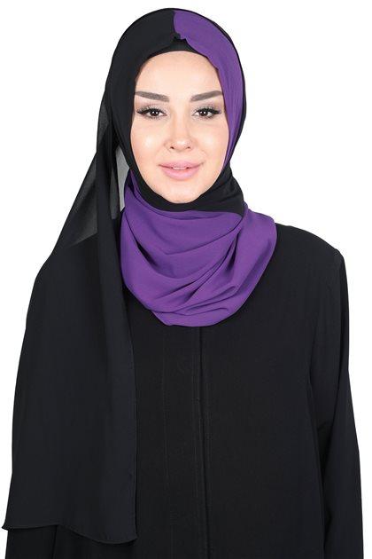 Ayşe Tasarim شال-أرجواني-أسود PS-102-20-14