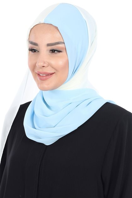 Ayşe Tasarim شال-كريمي-أزرق الرّضّع PS-102-22-27