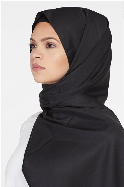 Düz Renk Fular Şal-Siyah SP-19Y-1001-01