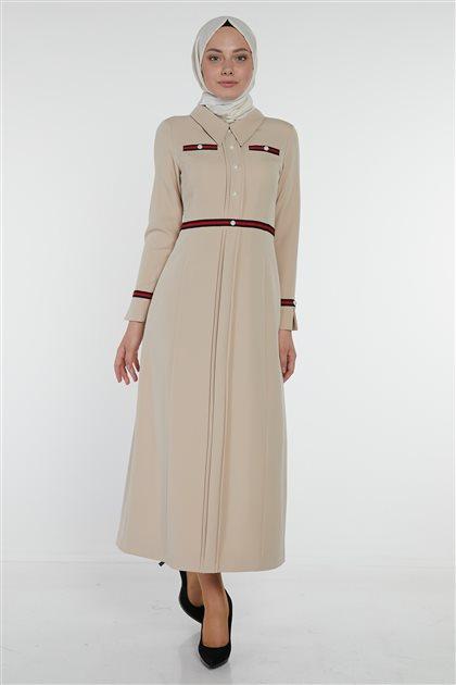 Dress-Beige KA-B9-23073-08