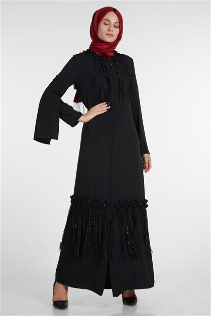 İnci Pardesü-Siyah M19YPRD86055-01