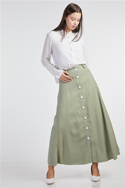 Skirt-Olive KA-B9-12048-33