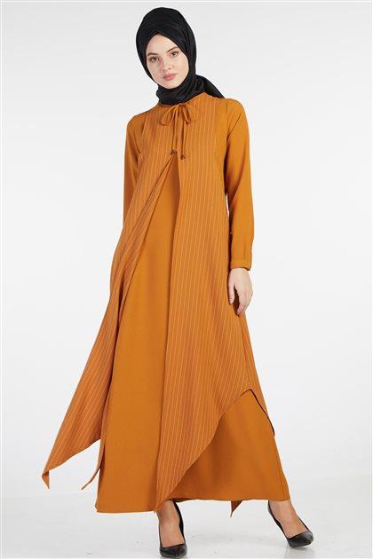 فستان-خردل TK-Z7132-50